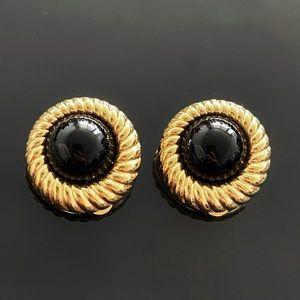 ✨Luxurious VTG Pearl Gold Clip On Earrings